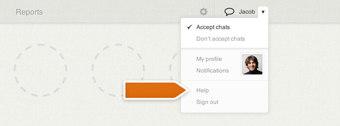 In-app LiveChat support