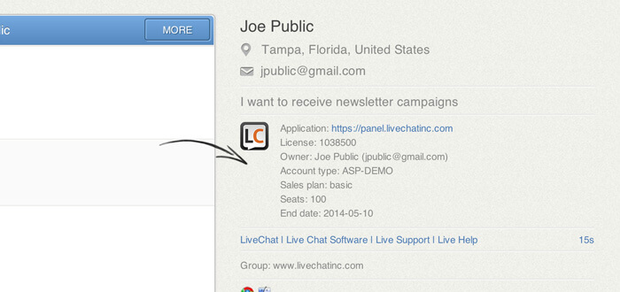 LiveChat application webhooks
