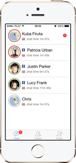 iPhone LiveChat iOS7 app