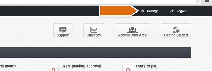 Accessing settings