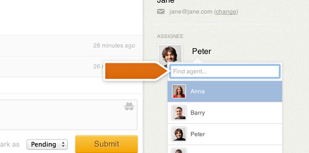 Filtering ticket assignee in LiveChat