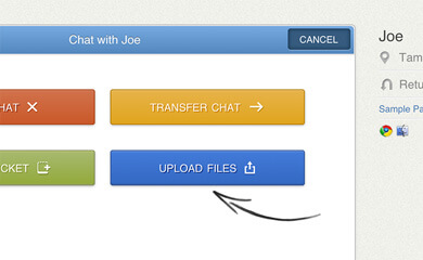 File sharing in the new LiveChat