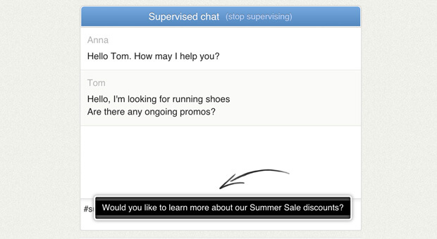Using canned responses when supervising