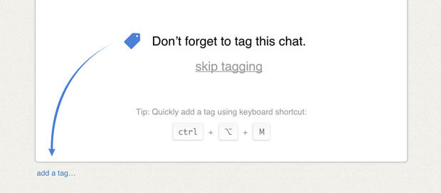 Chat tags reminder update