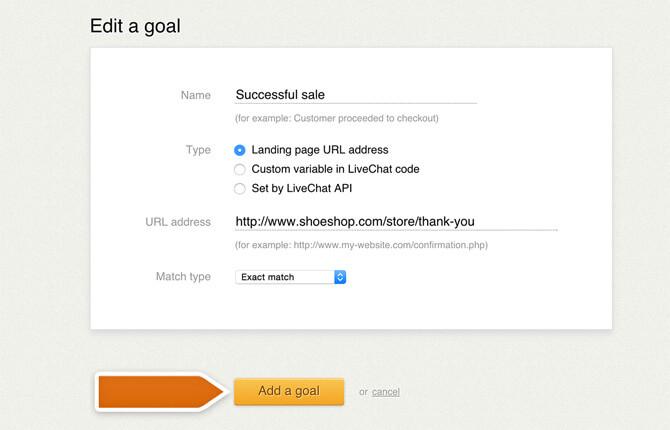 Adding a goal
