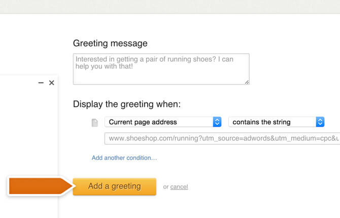 Boosting an AdWords campaign with greetings