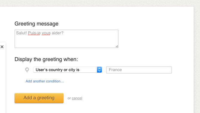 Adding a country-based greeting