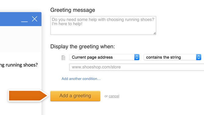 Creating a greeting for a specific page