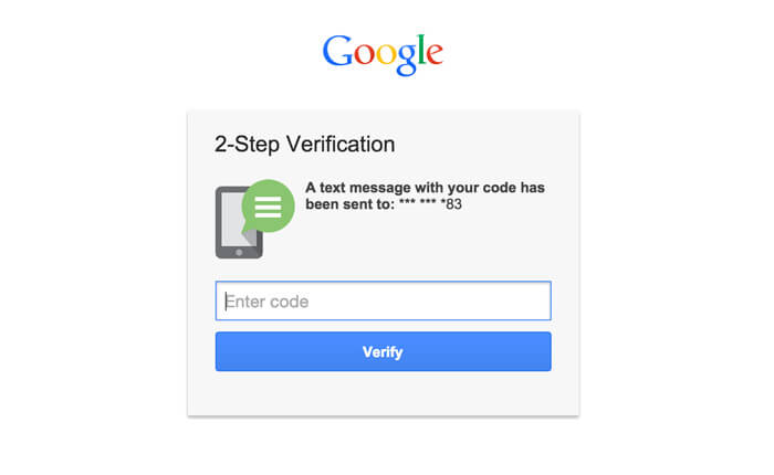 Two-step verification with Google