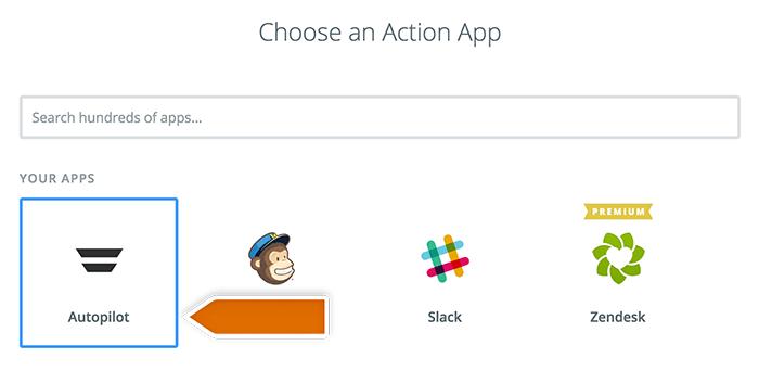 Choosing action app