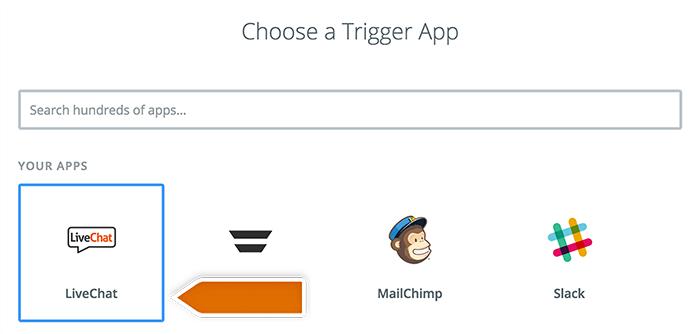 Choosing triggering app
