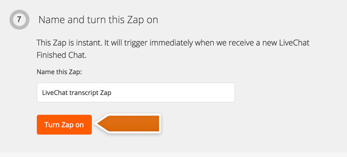 Turning the Zap on