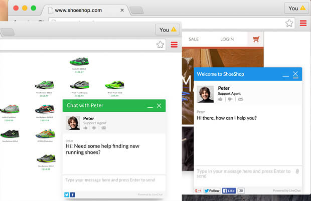 Separate sessions with LiveChat for multiple websites