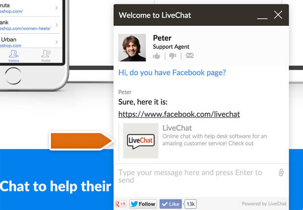 Link preview in LiveChat