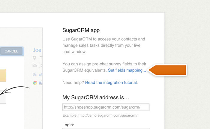 Accessing fields mapping in the SugarCRM integration