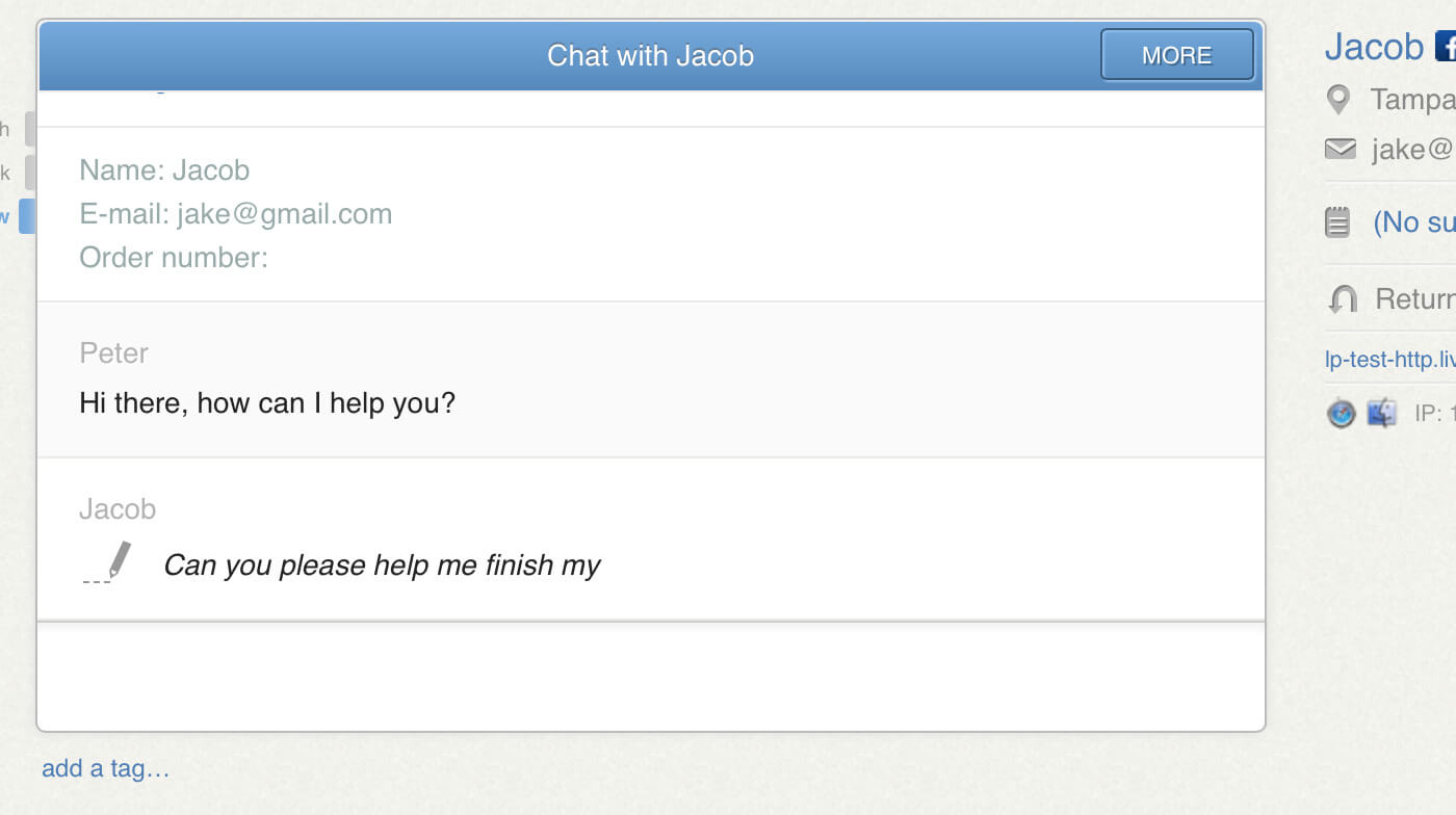 Live chat no sign in