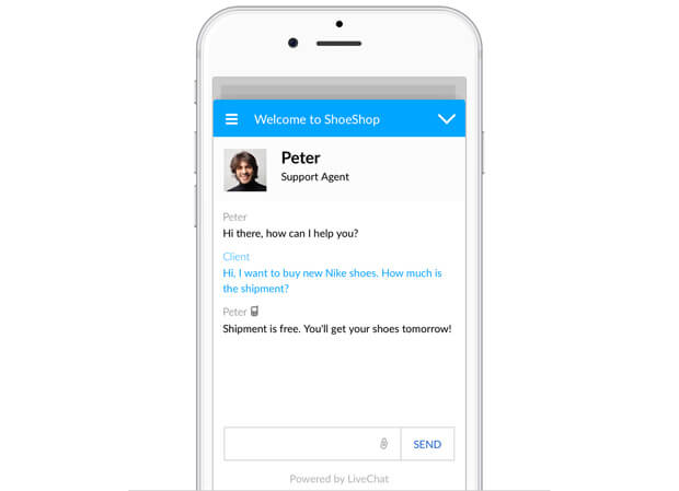 New LiveChat mobile chat window for mobile devices