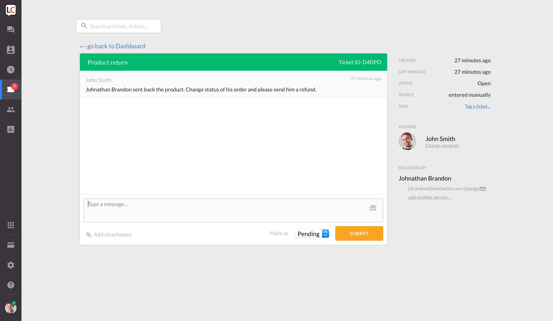 Help Desk Software | Help Desk in LiveChat