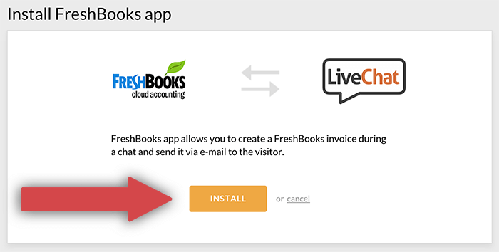 Installing the FreshBooks integration