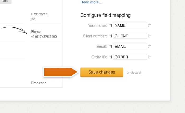 Saving Mailchimp integration changes in LiveChat