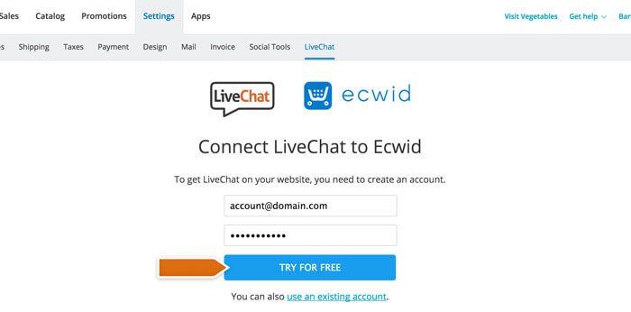 ecwid-add-livechat-connect