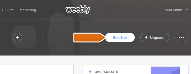 Click on Edit button, available in Weebly editor