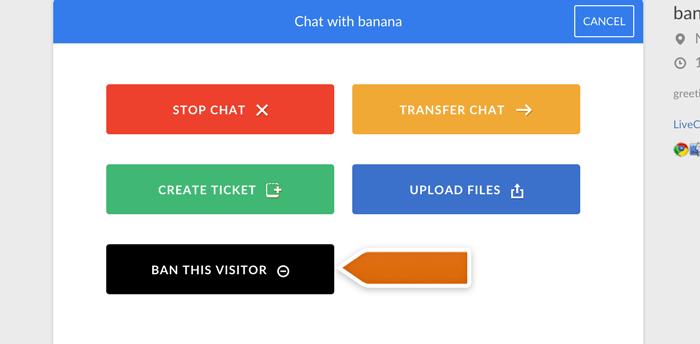 banning visitor from a chat