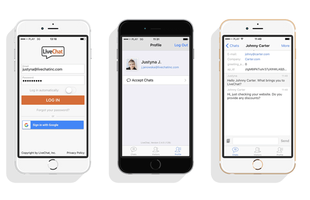 updated LiveChat ios app