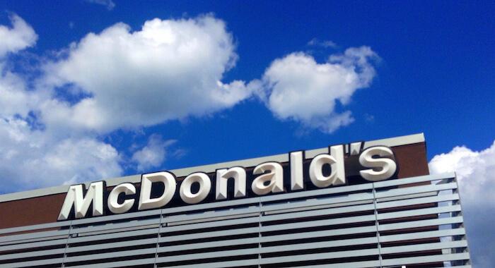 mcdonald's building logo sky