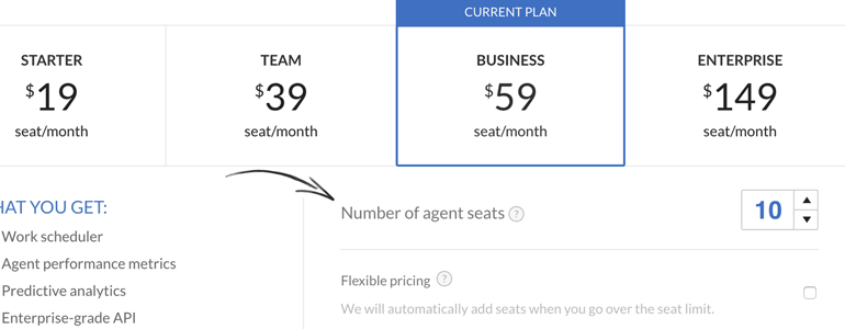 Adjusting agent seats in LiveChat