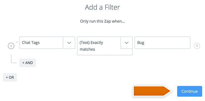 New filter in Zapier