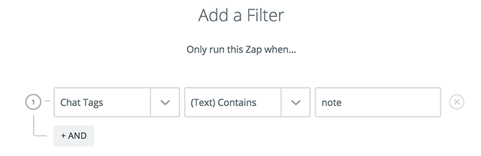 Integration with Evernote: Adding a tag filter