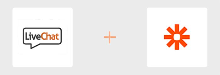 Zapier - LiveChat logos