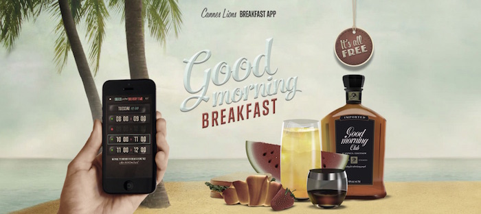 cannes lions breakfast app