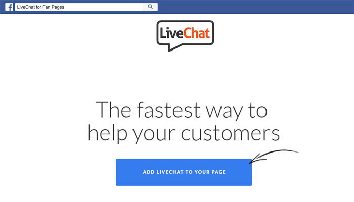 LiveChat for Fan Pages App