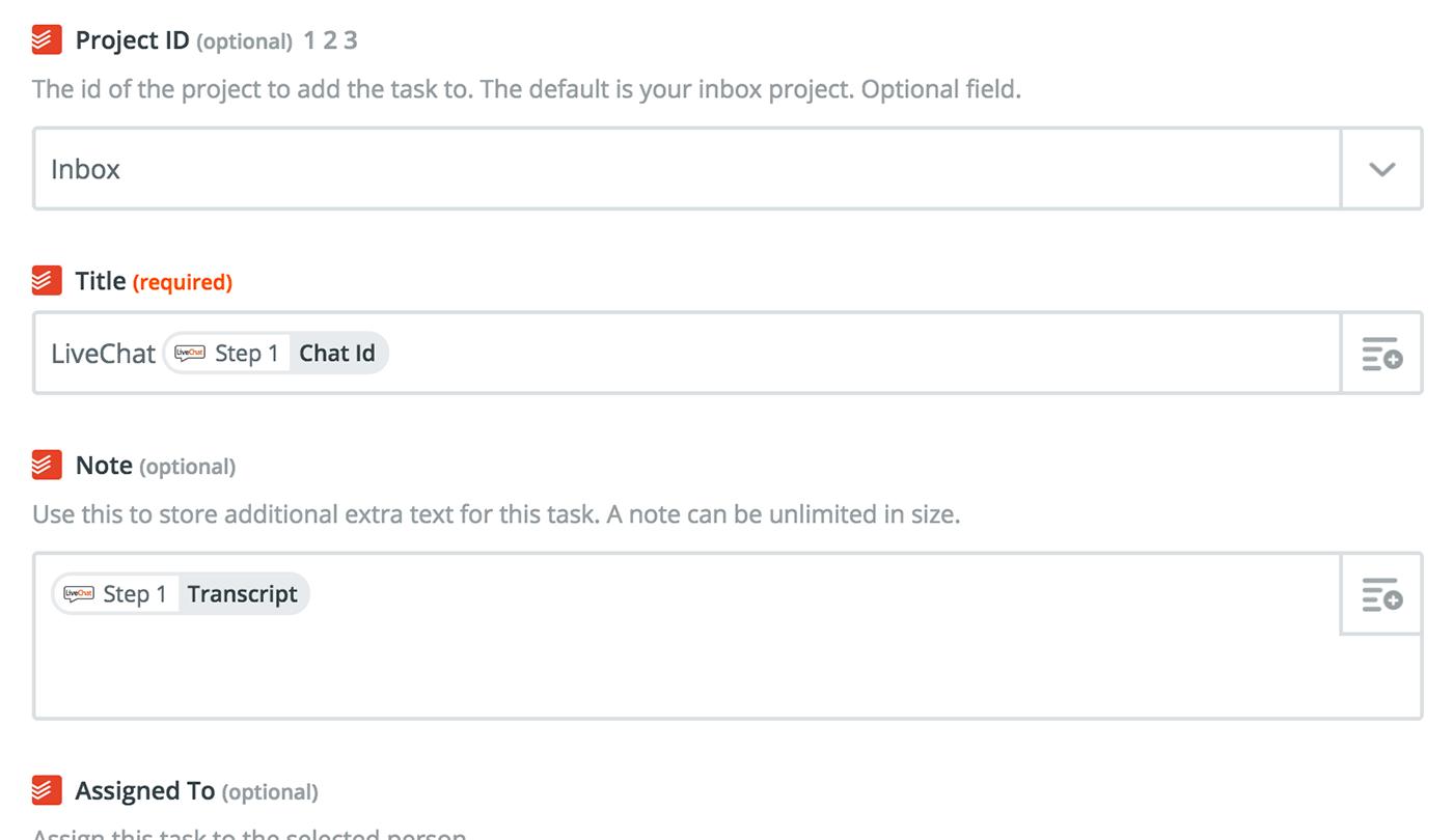 Todoist - LiveChat integration tutorial