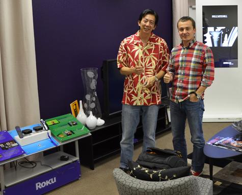 Vincent Thai and Mariusz Cieply at Roku's