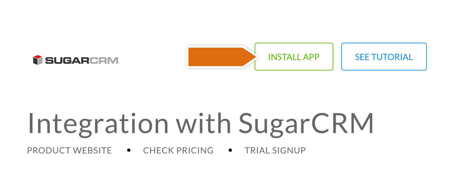 Installing the SugarCRM installation