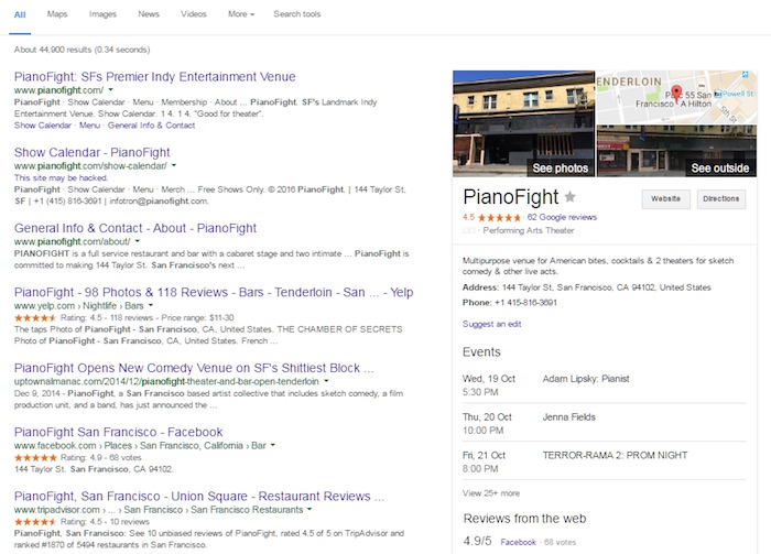 local seo business details address