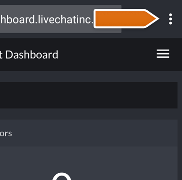 Enter Chrome Context menu to add Dashboard to your home screen
