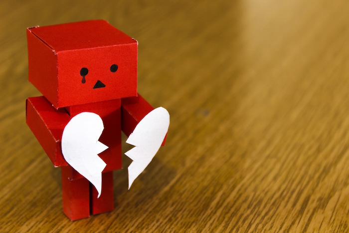 sad robot broken heart