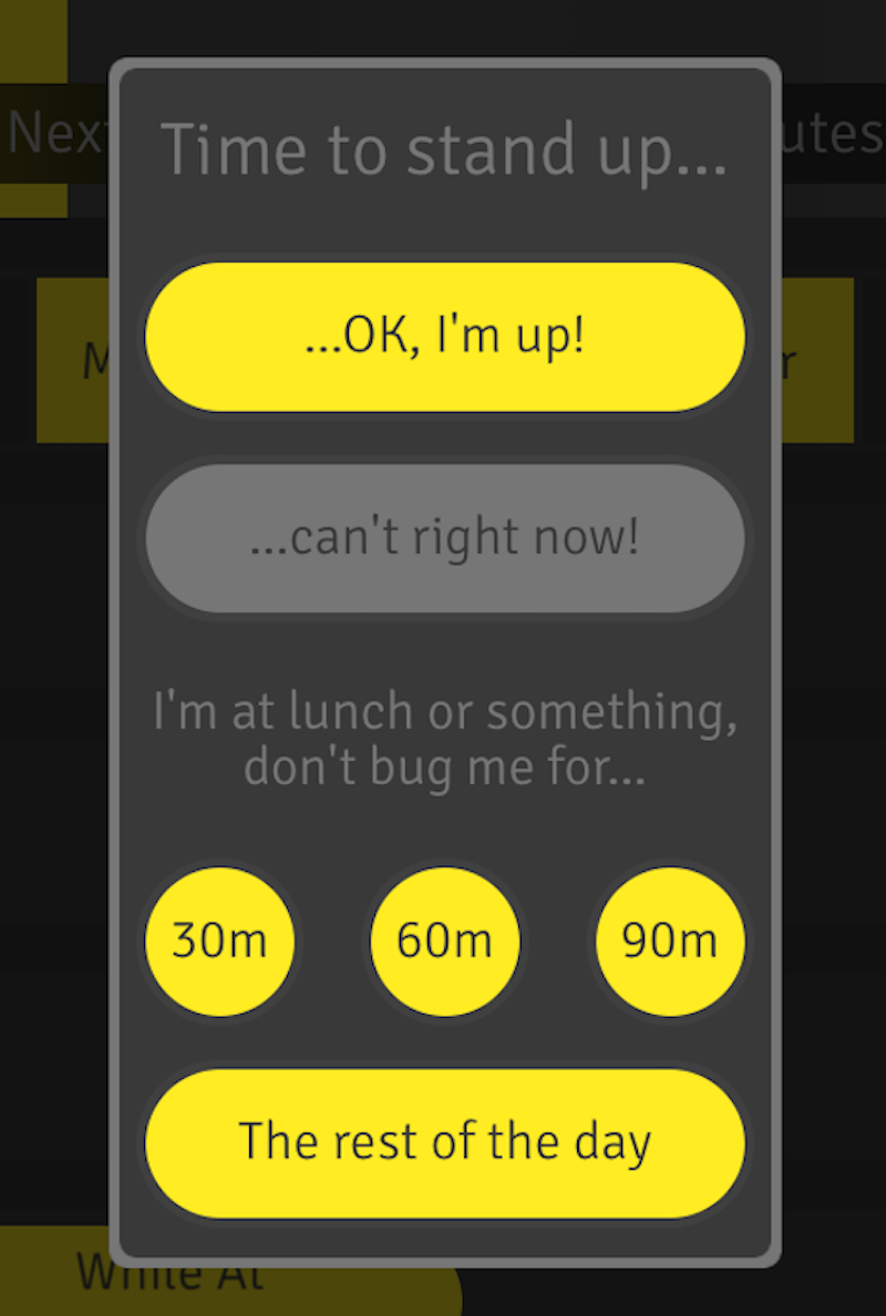 Stand up work app