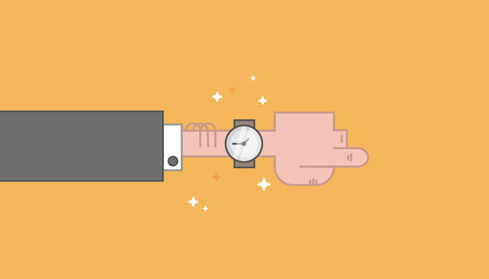 hand watch time illustration how to be more productive
