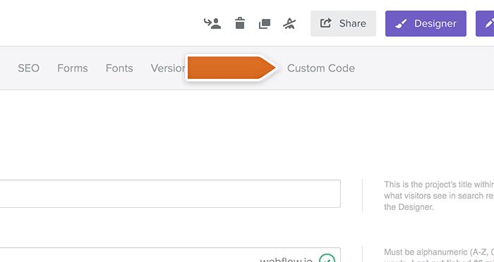 Click Custom Code