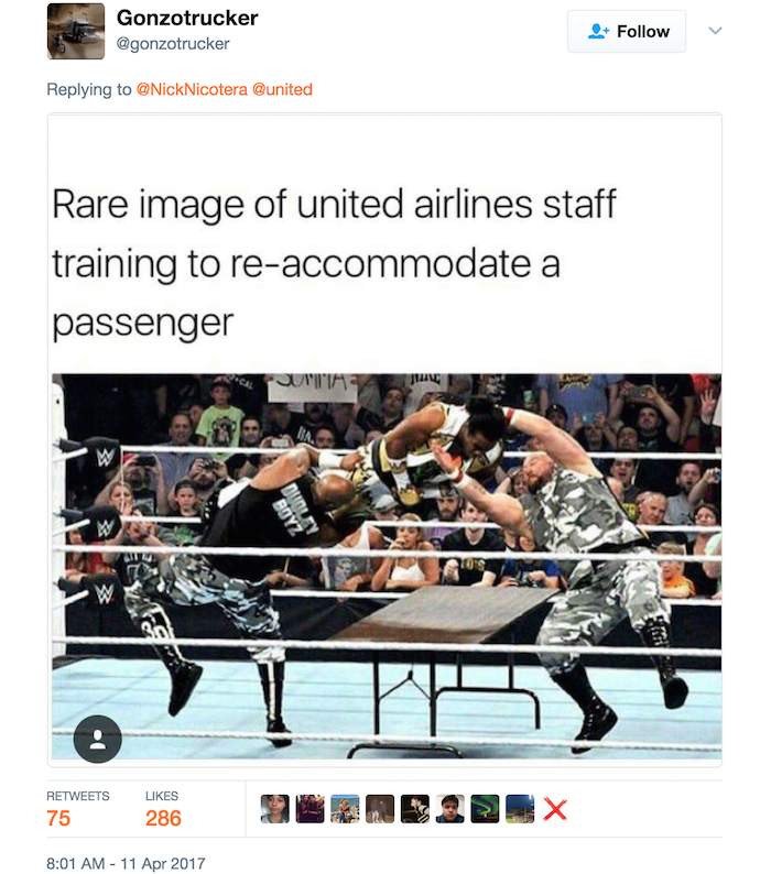 United Airlines funny tweet