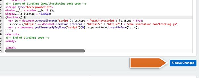 Saving code changes