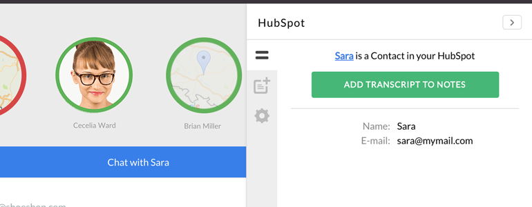 HubSpot: view your Contacts in LiveChat