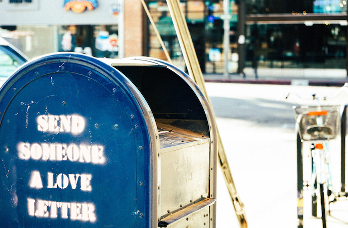 Mailbox street love letter