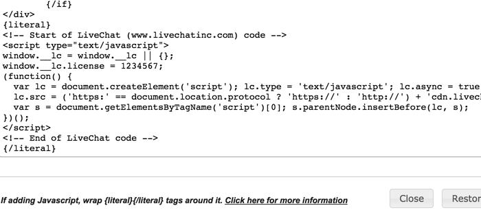 PinnacleCart HTML editor
