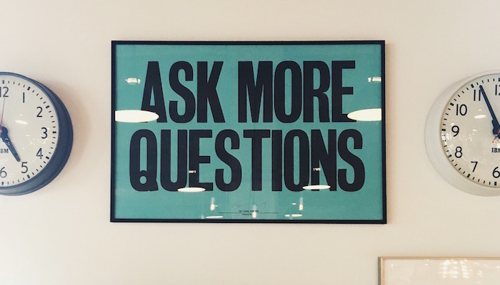 ask more questions sign customer feedback survey
